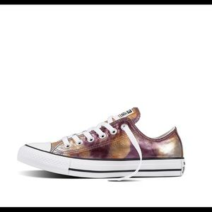 Like New Converse All Star Low Top Metallic Shoes